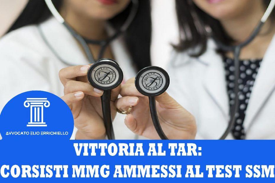 Vittoria al Tar per il concorso SSM 2020: siamo i primi a ottenere l'ammissione dei corsisti MMG